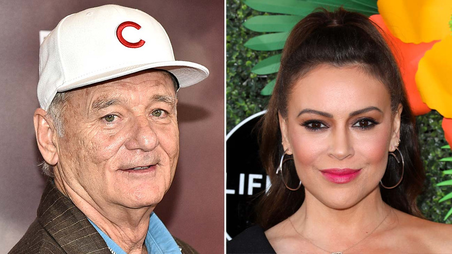 Bill Murray and Alyssa Milano - Getty - Split - H 2019