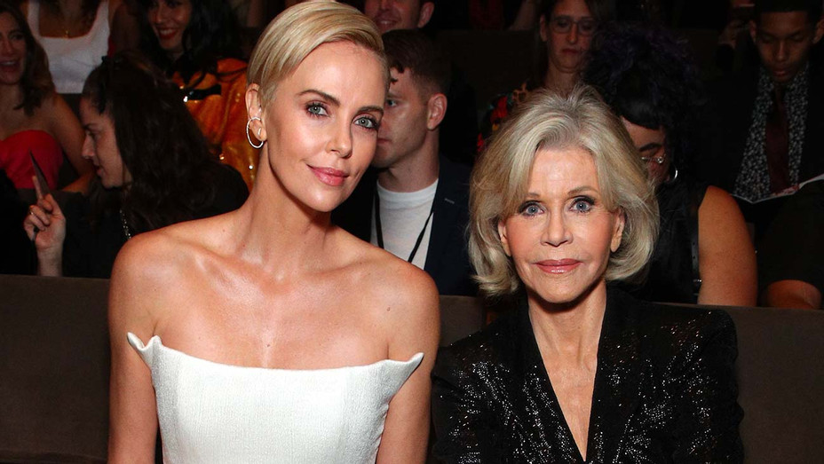 Charlize Theron and Jane Fonda attend the 2019 Glamour Women Of The Year Awards - Getty-H 2019