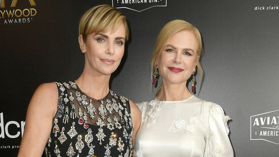 Charlize Theron and Nicole Kidman - Hollywood Film Awards - H Getty 2019
