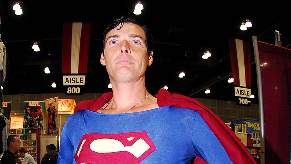 Christopher Dennis aka Superman-Christopher Reeve look-a-like at the Los Angeles Convention Center - Getty - H 2019