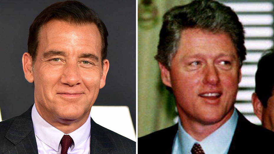 Clive Owen and Bill Clinton -Split-Getty-H 2019