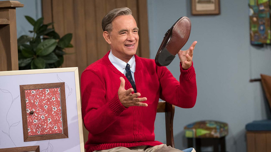 Tom Hanks stars as Mister Rogers in TriStar Pictures' A BEAUTIFUL DAY IN THE NEIGHBORHOOD - Publicity-H 2019