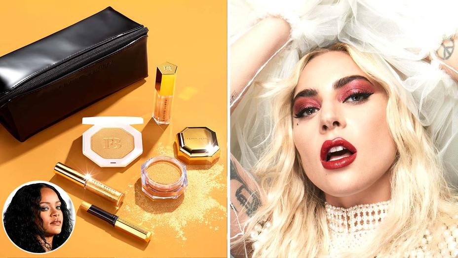 Fenty Beauty - Lady Gaga - Rihanna - Split - Inset - Getty - H 2019