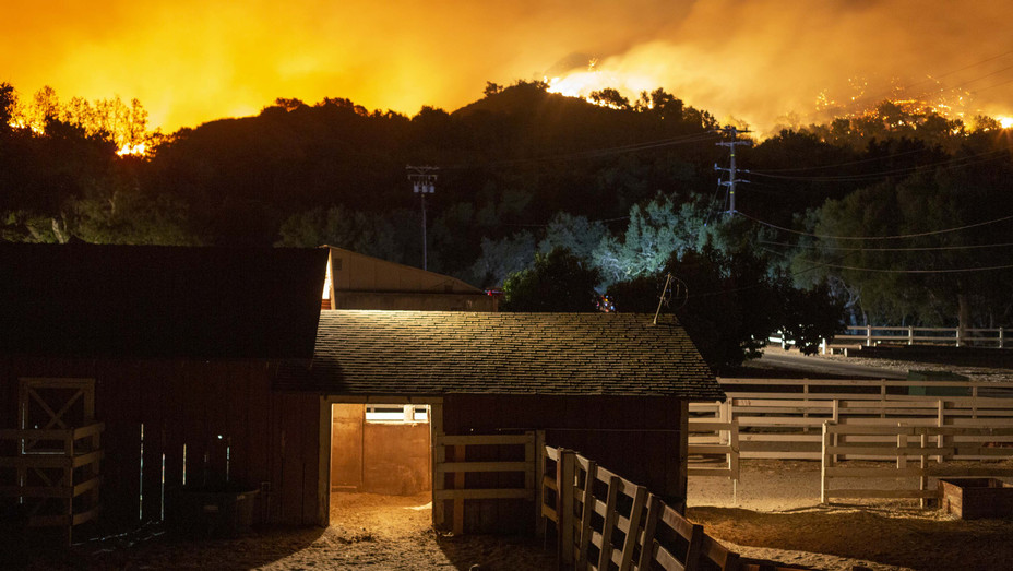 Maria Fire Near Somis, California on Nov. 1 - H Getty 2019