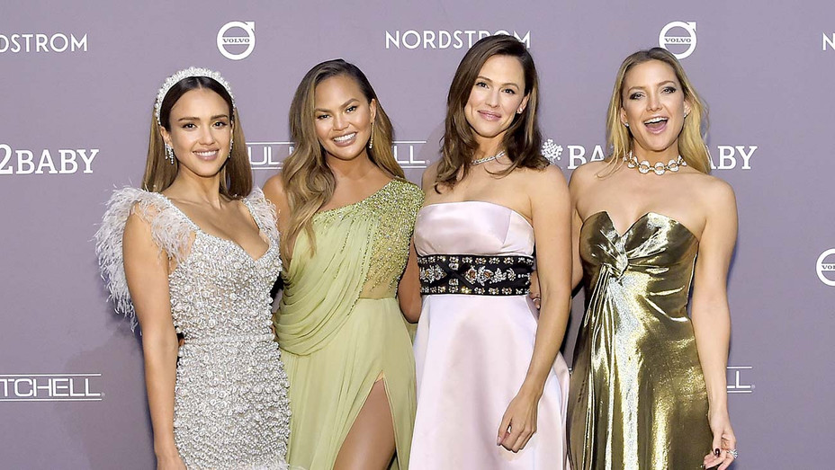 Jessica Alba, Chrissy Teigen, Jennifer Garner and Kate Hudson attend the 2019 Baby2Baby Gala — Getty — H 2019