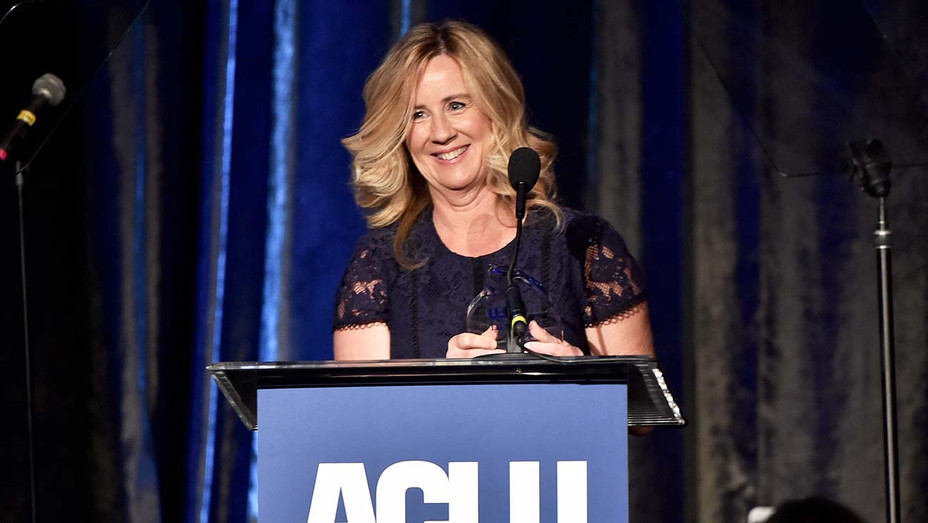 Christine Blasey Ford speaks onstage during ACLU SoCal's Annual Bill of Rights dinner - Getty -H 2019