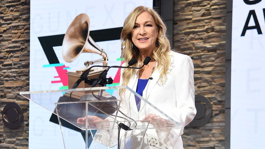 Recording Academy president and CEO Deborah Dugan speaks at the 62nd Grammy Awards Nominations - Getty -H 2019