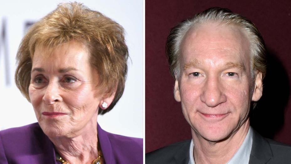Judy Sheindlin (Judge Judy) and Bill Maher - Getty - Split - H 2019