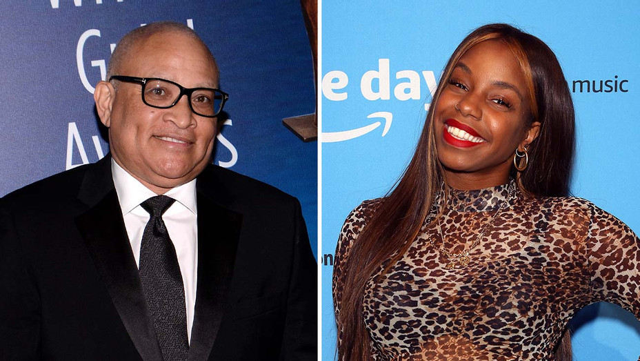Larry Wilmore and London Hughes_Split - Getty - H 2019