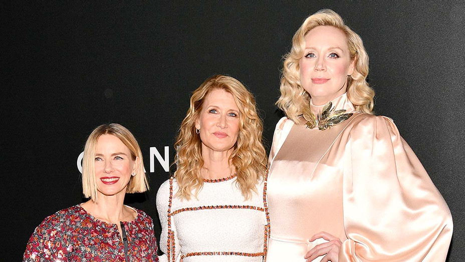Naomi Watts, honoree Laura Dern and Gwendoline Christie - Getty - H 2019
