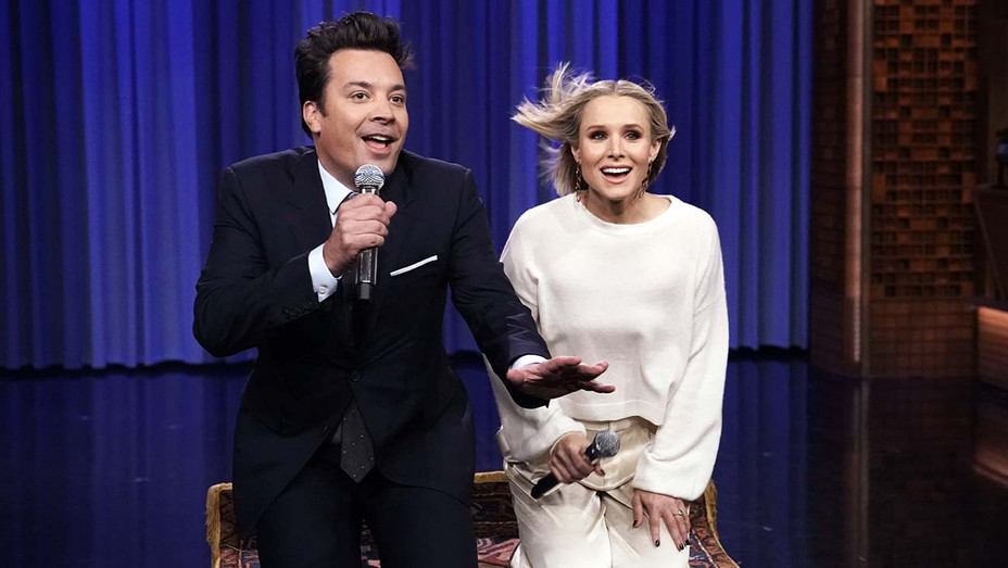 THE TONIGHT SHOW STARRING JIMMY FALLON -Episode 1154 -Jimmy Fallon and actress Kristen Bell - Publicity H 2019