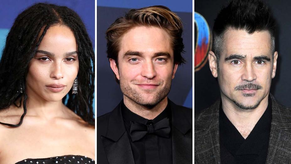Zoe Kravits, Robert Pattinson, Colin Farrell - Getty - Split - H 2019