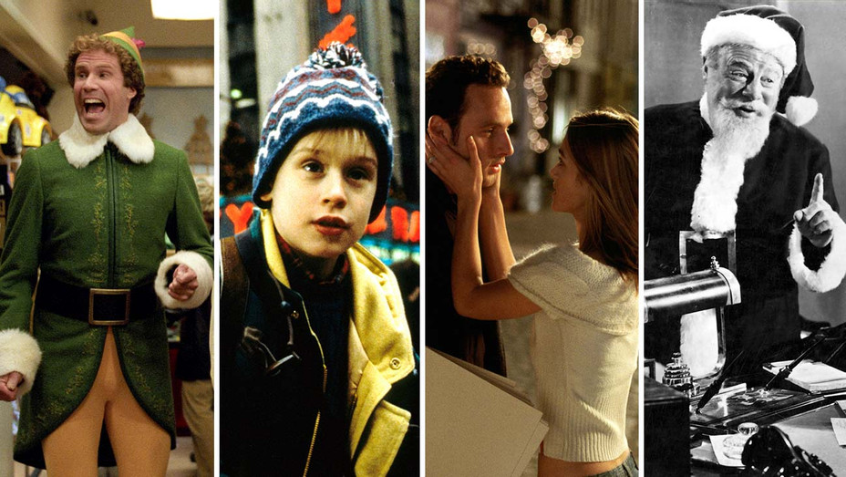 Elf, Home Alone, Love Actually, Miracle on 34th Street - Photofest stills - Split - H 2019