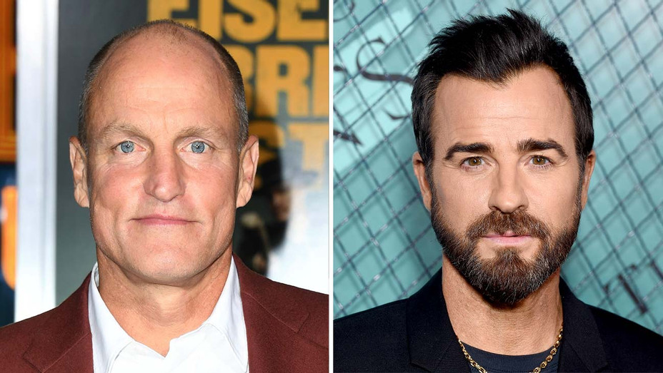Woody Harrelson and Justin Theroux - Getty - Split - H 2019