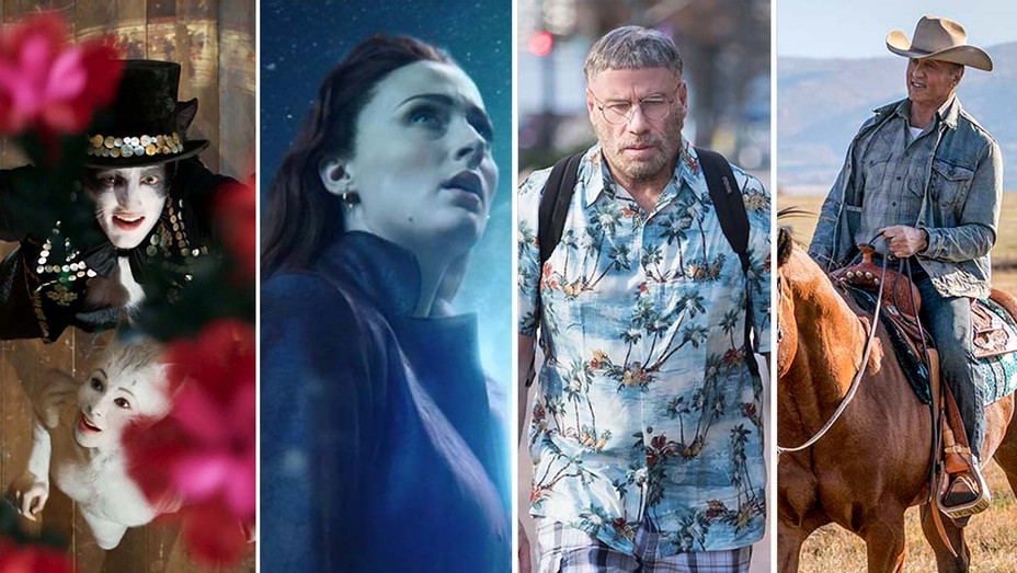 Cats- Dark Phoenix- The Fanatic- Rambo: Last Blood - Publicity Stills - Split - H 2019