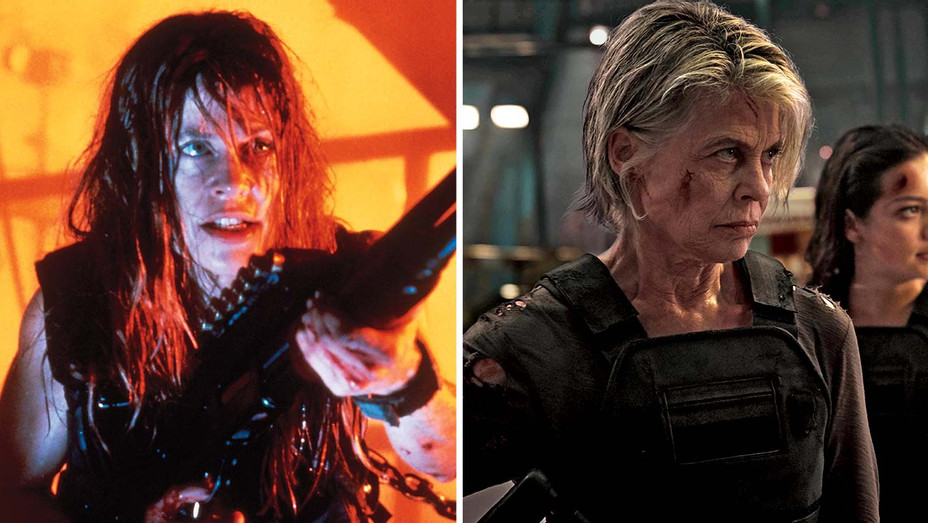 How 'Dark Fate's' Visual Effects Team Brought 'Terminator' Stars Back to the '90s- Photofest - Publicity - Split - H 2019