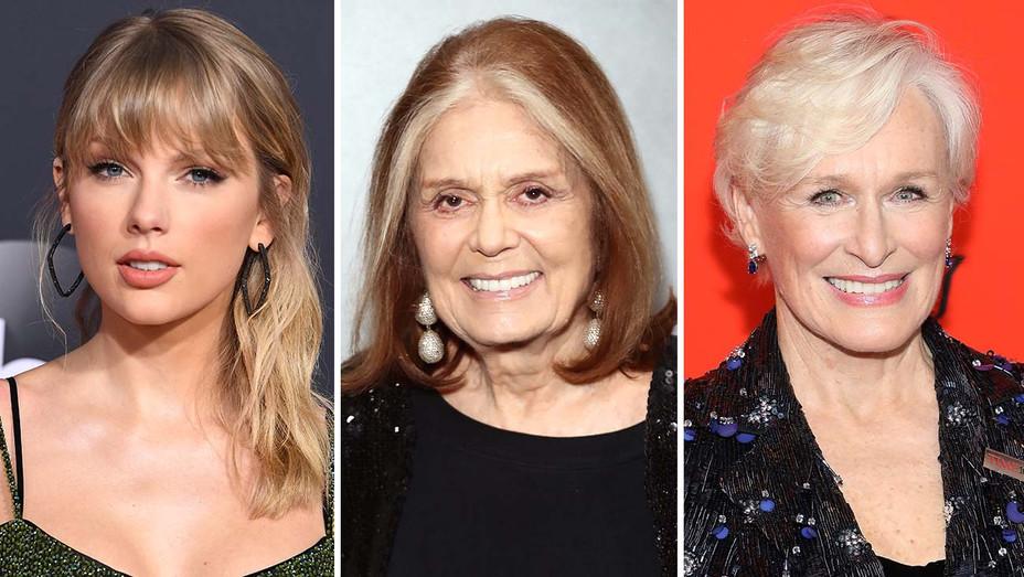 Taylor Swift, Gloria Steinem and Glenn Close- Split-Getty-H 2019