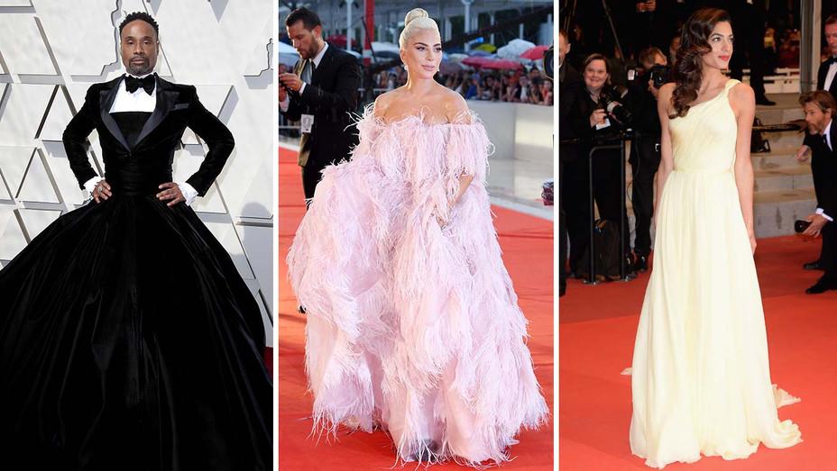 Billy Porter, Lady Gaga and Amal Clooney_Split - Getty - H 2019
