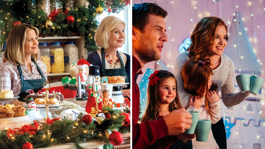 Christmas Town (Hallmark) and Twinkle All the Way (Lifetime) - Publicity Stills - Split - H 2019