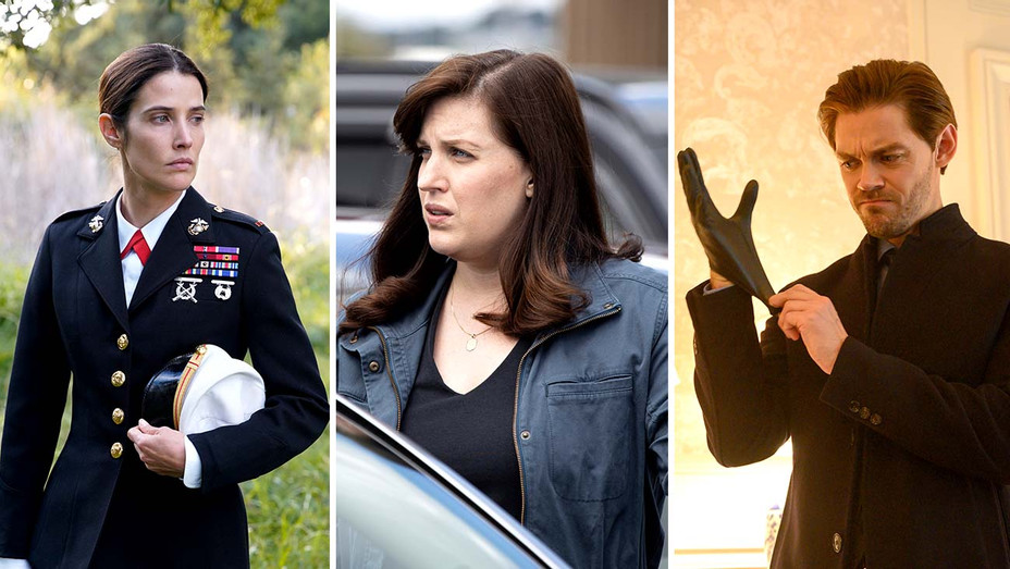 Cobie Smulders in Stumptown (ABC), Allison Tolman in Emergence (ABC) and Tom Payne in Prodigal Son (Fox) - Publicity Stills - Split - H 2019