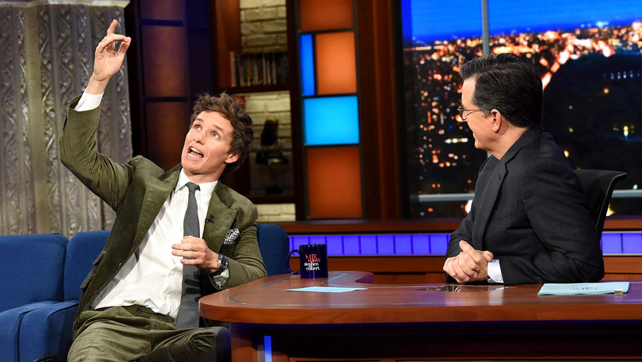 Eddie Redmayne on The Late Show CBS - Publicity - H 2019