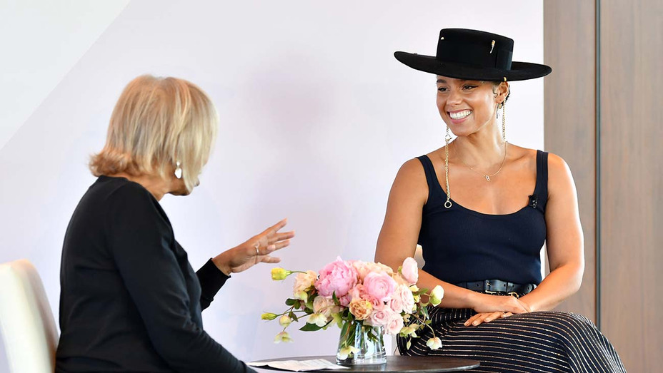 Gail Mitchell and Alicia Keys - Getty - H 2019