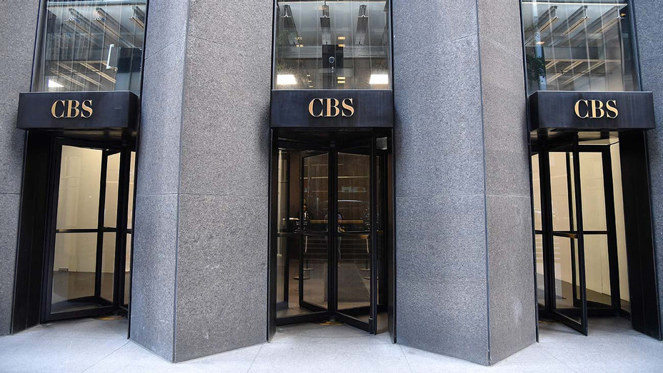 The CBS logo - CBS Building, headquarters of the CBS Corporation, in New York City on August 6, 2018 - Getty-H 2019