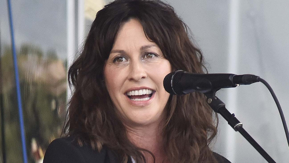 Alanis Morissette performs during the 2019 New Orleans Jazz & Heritage Festival 50th Anniversary  - Getty-H 2019