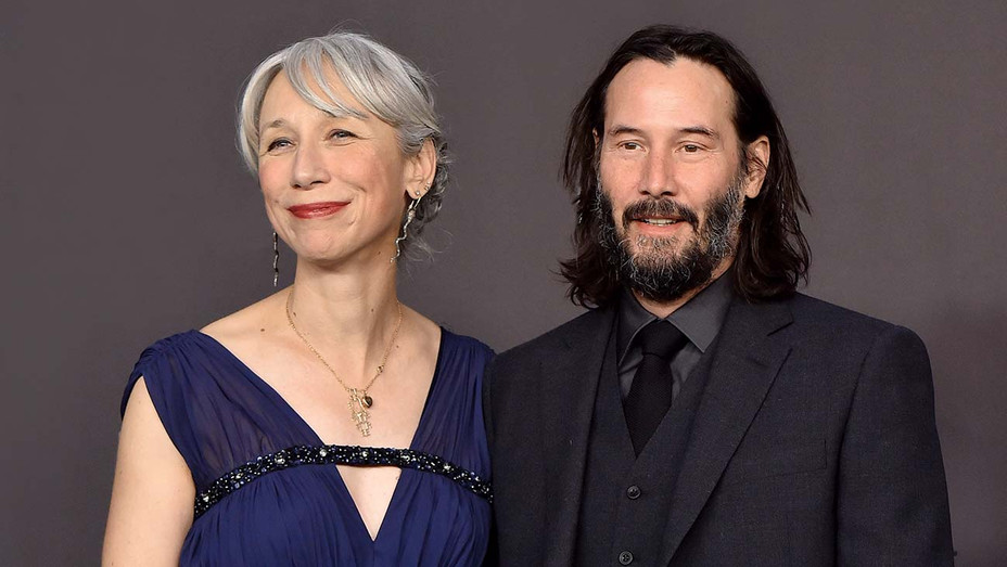 Alexandra Grant and Keanu Reeves attend the 2019 LACMA Art + Film Gala - Getty - H 2019