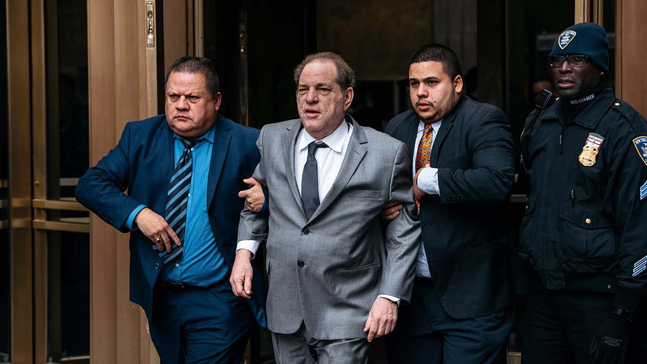 Harvey Weinstein leaves New York City Criminal Court after a bail hearing on December 6, 2019 - getty-h 2019