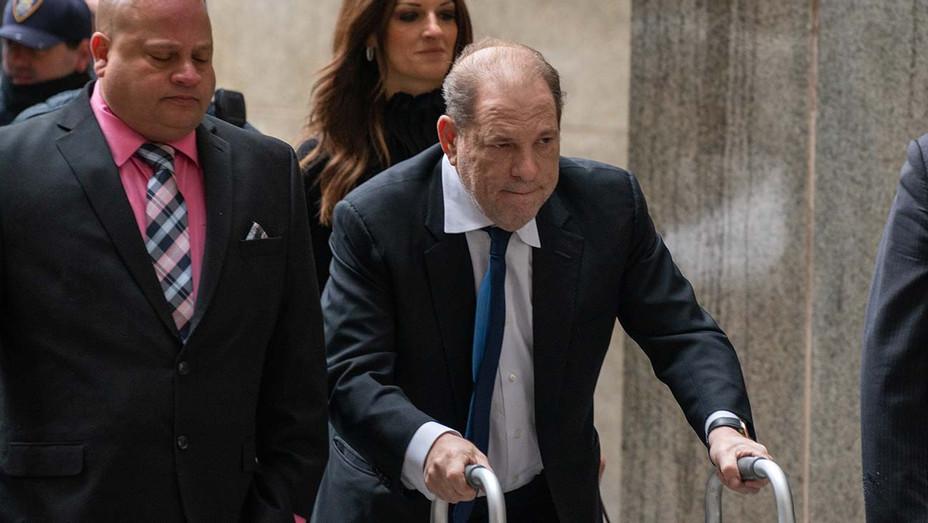 Harvey Weinstein arrives at criminal court on December 11, 2019 - Getty - H 2019
