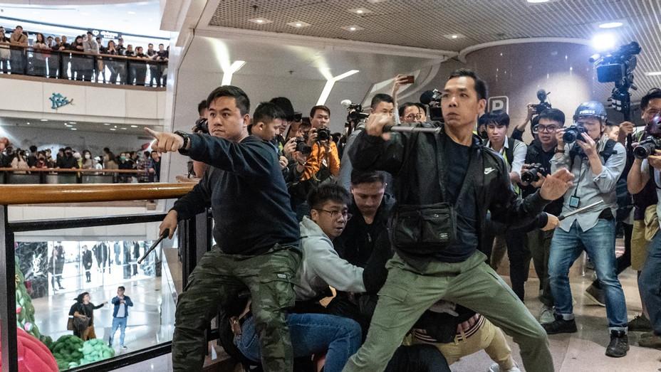 Hong Kong Protests Dec. 25 - Getty - H 2019