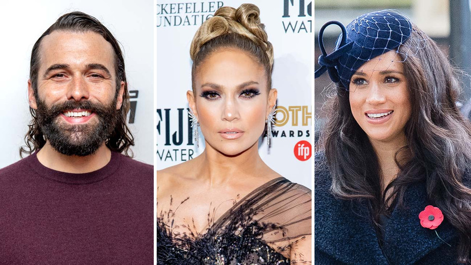 Jonathan Van Ness, Jennifer Lopez, Meghan Markle - Getty - Split - H 2019