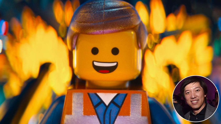 Lego Movie still with inset of Dan Lin- GETTY-H 2019