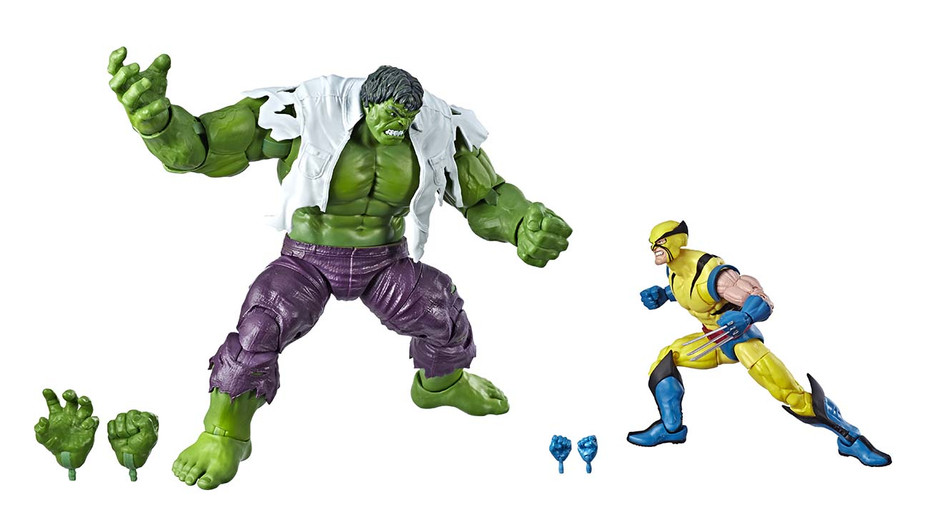 MARVEL LEGENDS SERIES 80TH ANNIVERSARY Figure - Hulk & Wolverine - Publicity - H 2019