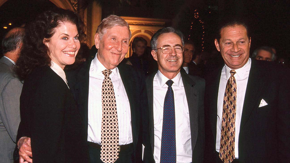 ONE TIME USE ONLY - Sherry Lansing, Sumner Redstone, Frank Biondi circa 1990s - SHUTTERSTOCK - H 2019