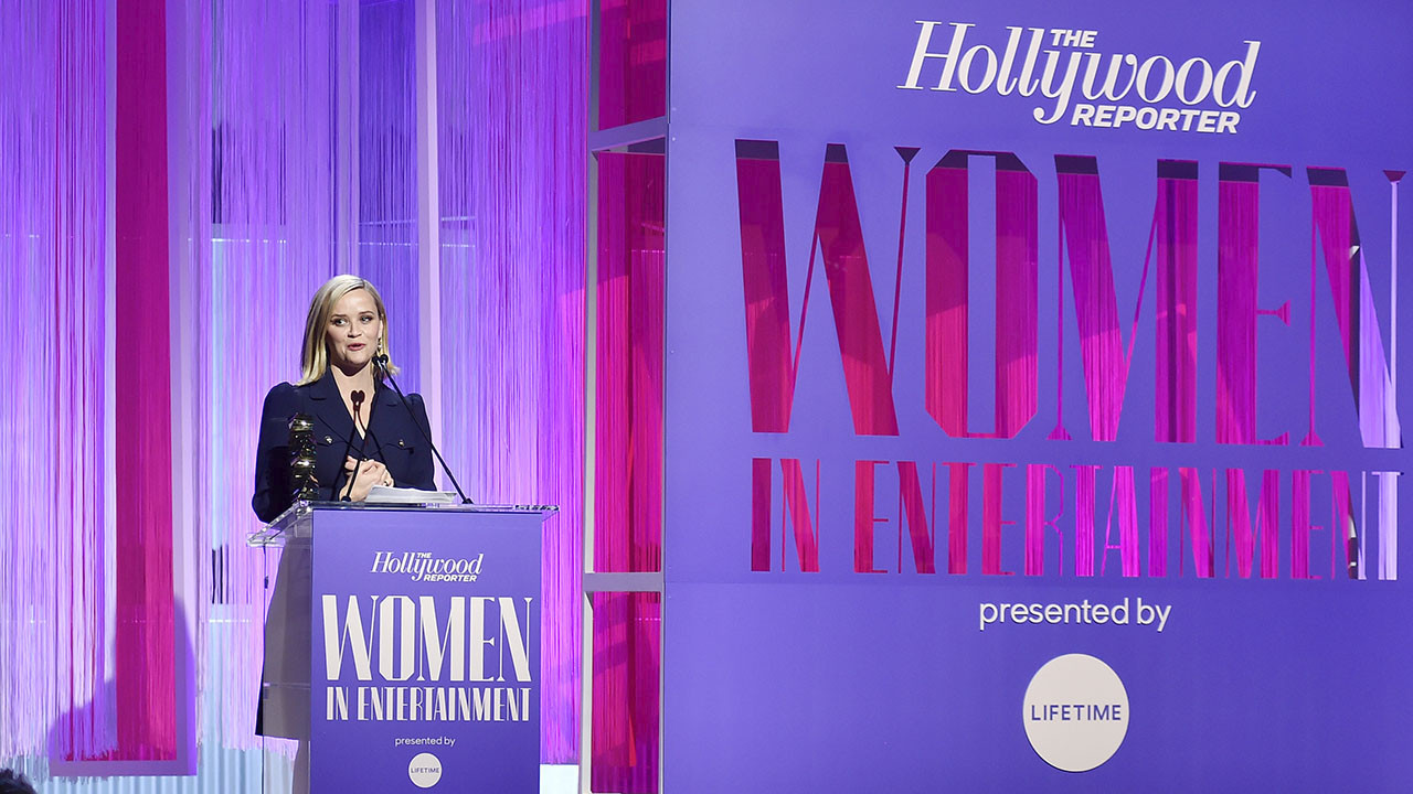 """Reese Witherspoon: """"Break the Silence in a Room, Ask the First Question""""   Women in Entertainment 2019"""