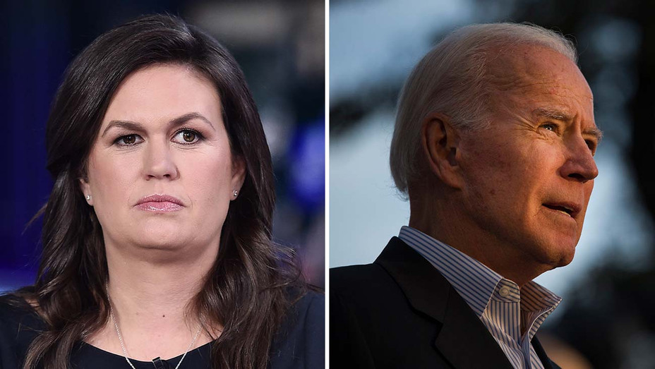 Sarah Huckabee Sanders and Joe Biden_Split - Getty - H 2019