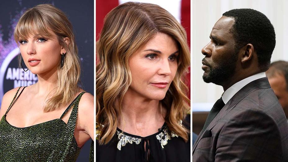 Taylor Swift, Lori Loughlin and R. Kelly - Getty - Split - H 2019