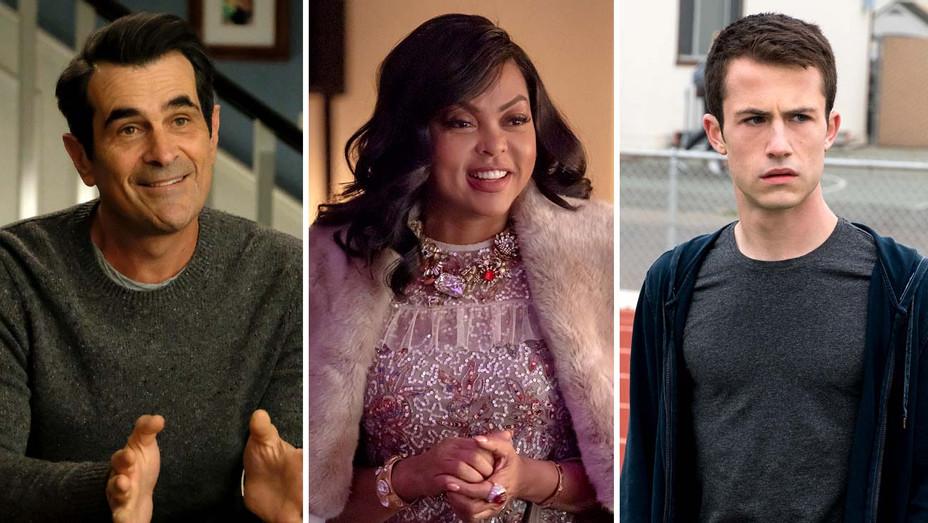 Ty Burrell in Modern Family (ABC), Taraji P. Henson in Empire (Fox) and Dylan Minnette in 13 Reasons Why (Netflix) - Publicity stills - Split- H 2019
