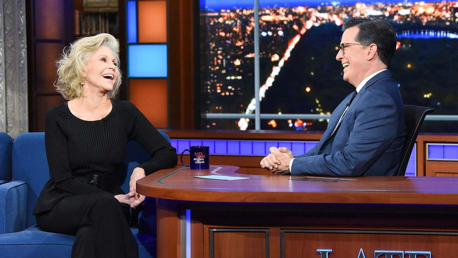 The Late Show with Stephen Colbert and guest Jane Fonda -January 6, 2020-Getty-H 2019