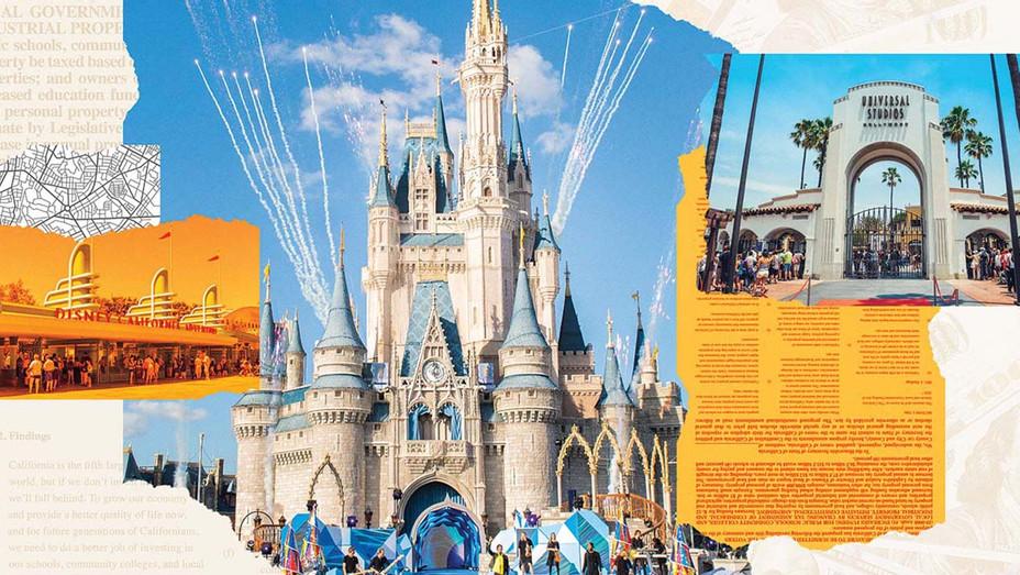 Studio Theme Parks Caught in Tax Fight  - Photo Illo - H 2020
