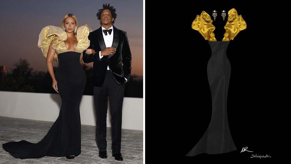 Golden Globes 2020 outfit - Beyonce - Jay-z - Publicity - Split H 2020