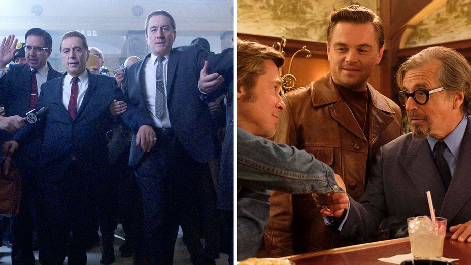 The Irishman and Once Upon a Time in Hollywood-Split-H 2020