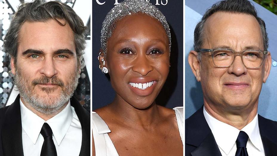 Joaquin Pheonix, Cynthia Erivo, Tom Hanks- Split-Getty-H 2020