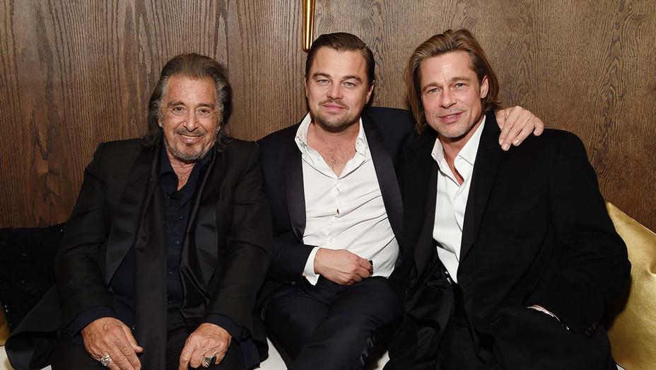 Al Pacino, Leonardo DiCaprio and Brad Pitt - Getty - H 2020