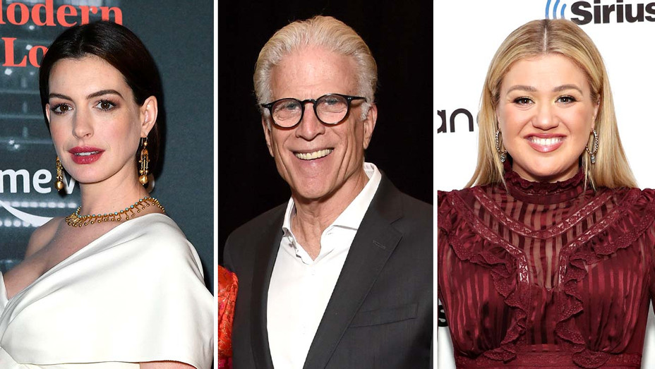 Anne Hathaway, Ted Danson and Kelly Clarkson - Getty - Split - H 2020