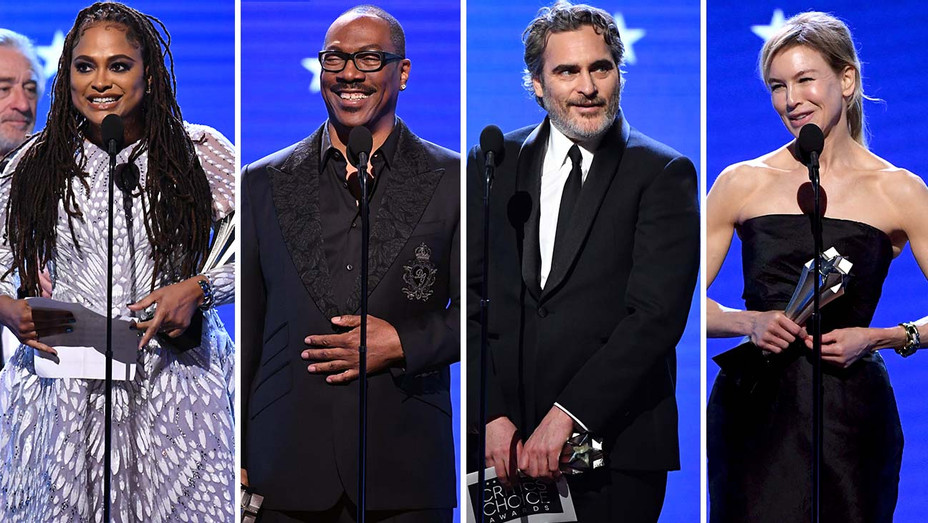 25th Annual Critics' Choice Awards - Ava, Eddie, Joaquin and Renee-Split-Getty-H 2020