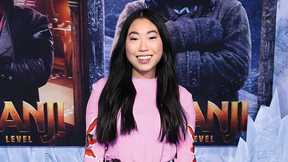 """Awkwafina arrives at the Premiere Of Sony Pictures' """"Jumanji: The Next Level"""" - Getty - H 2019"""