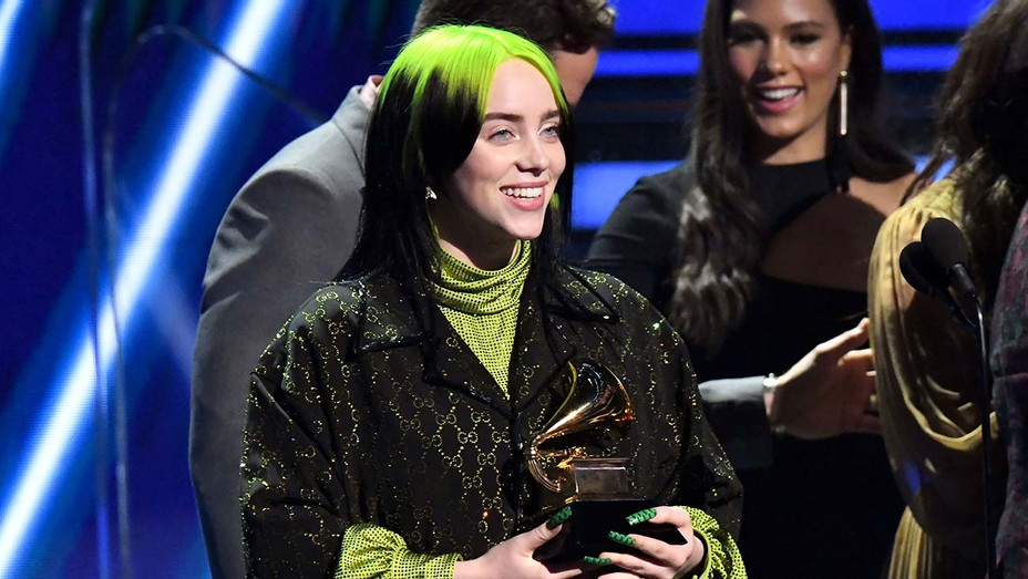 Billie Eilish_Onstage_Grammys_Song of the Year - Getty - H 2020